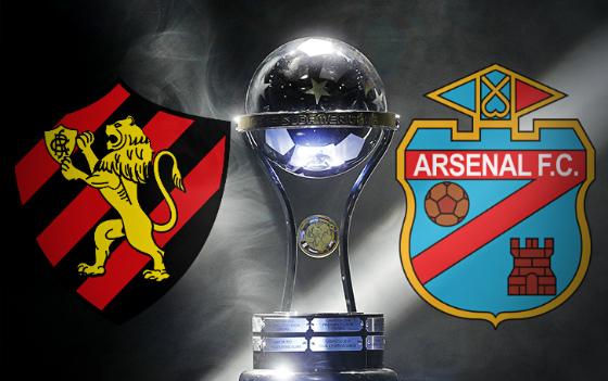 Sport x Arsenal de Sarandí, o confronto pela 2ª fase da Sul-Americana 2017. Arte: Cassio Zirpoli/DP
