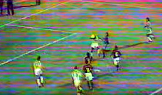 Final do Pernambucano de 1992, entre Sport e Náutico, com o gol anulado de Ocimar. Crédito: Globo/youtube/reprodução