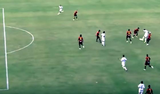 Final do Pernambucano de 2012, entre Santa e Sport, com o gol em impedimento de Branquinho. Crédito: Globo/youtube/reprodução