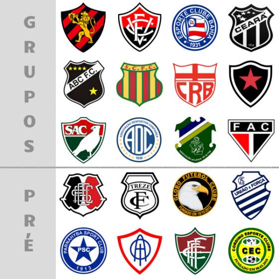 A divisão dos 20 classificados à Copa do Nordeste de 2017. Arte: Cassio Zirpoli/DP