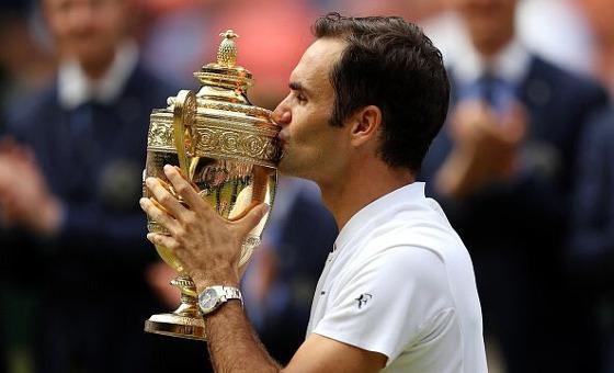 Roger Federer conquista o grand slam na grama pela 8ª vez. Foto: Roger Federer/twitter (@rogerfederer)