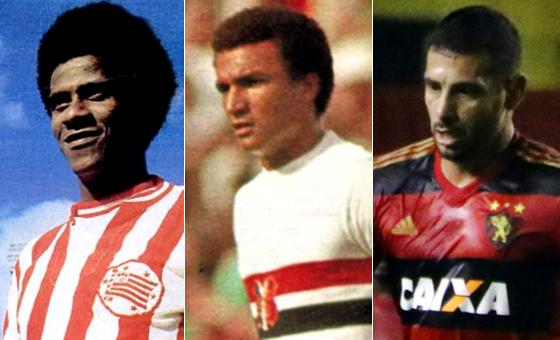 Jorge Mendonça (Náutico), Ramon (Santa Cruz) e Diego Souza (Sport)