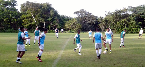 Santa treinando no Clube de Campo Alvorada, 09/06/2015. Foto: Santa Cruz/site oficial