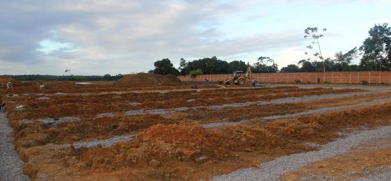 Construção do Centro de Treinamento Ninho das Cobras, 22/06/2017. Foto: Santa Cruz/site oficial