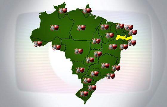 Corinthians x Flamengo ao vivo para todo o Brasil, menos Pernambuco. Arte: Cassio Zirpoli/DP