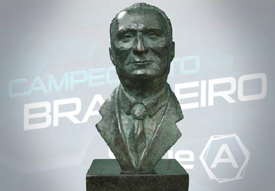 Troféu Osmar Santos, entregue pelo jornal Lance! ao 1º lugar do 1º turno da Série A. Arte: Cassio Zirpoli/DP