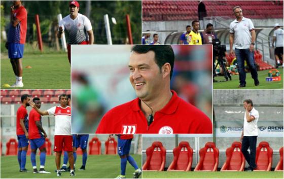 Os 5 técnicos do Náutico em 2017. Fotos: Diario de Pernambuco