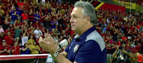 Série A 2017, 18ª rodada: Sport 2 x 2 Fluminense. Imagem: Sportv/reprodução
