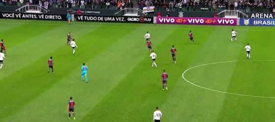 Série A 2017, 19ª rodada: Corinthians 3 x 0 Sport. Crédito: Premiere/reprodução