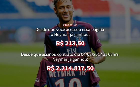 """Site """"Salário do Neymar"""". Crédito: reprodução"""