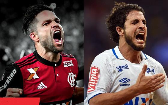 Diego e Hudson, autores dos gols decisivos na semifinal da Copa do Brasil de 2017. Crédito: divulgação