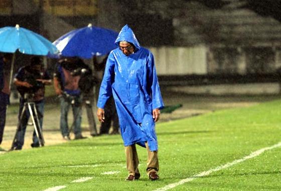 Givanildo Oliveira em sua último jogo pelo tricolor em 2017 (Santa 1 x 2 CRB). Foto: Roberto Ramos/DP