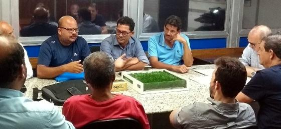 Reunião para a Série A2 do Pernambucano 2017. Foto: FPF/divulgação