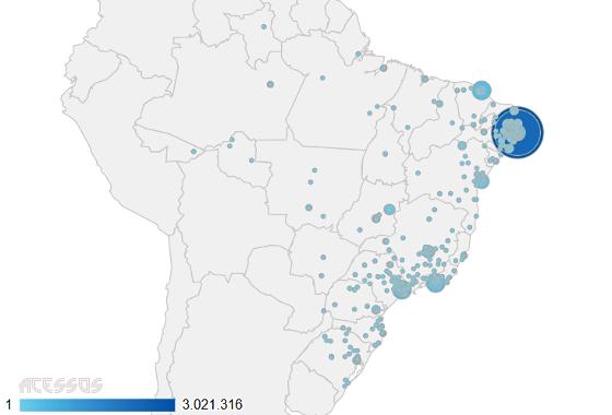 Acessos no blog de 2008 a 2017. Crédito: Google Analytics/reprodução