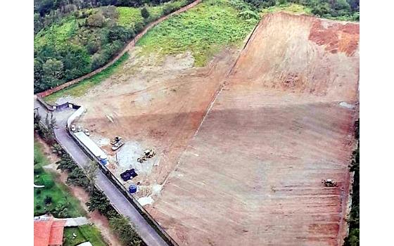 Imagens aéreas da 1ª fase do CT do Santa Cruz. Crédito: Associação Centenário do Santa Cruz (ACSC)