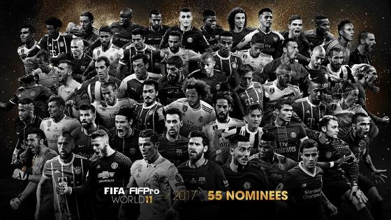 """Os 55 indicados à """"Seleção do Ano"""", segundo a Fifa"""