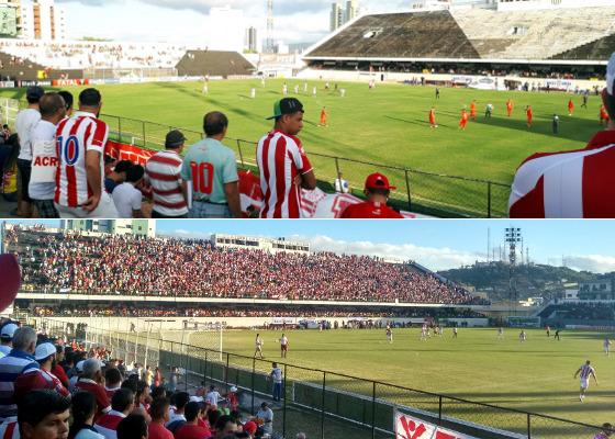 Náutico vs Boa (João de Andrade Neto/DP) e Náutico vs Inter (Luís Prates/twitter)
