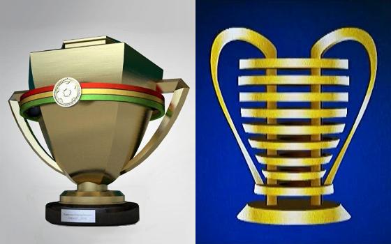 Os modelos dos troféus de 2018 no Campeonato Pernambucano e na Copa do Nordeste