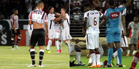Série B 2017, 30ª rodada: Santa Cruz 2 x 2 Oeste (Ricardo Fernandes/DP) e CRB 2 x 2 Náutico (Léo Lemos/Náutico)