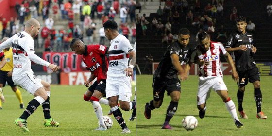 Série B 2017, 31ª rodada: Brasil de Pelotas 1 x 1 Santa Cruz (Carlos Insaurriaga/G.E. Brasil) e Náutico 1 x 2 ABC (Léo Lemos/Náutico)