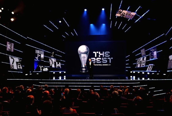 A premiação Fifa The Best, de 2017. Foto: Alexander Hassenstein /Fifa/Getty Images