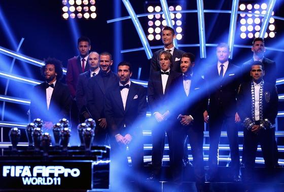A seleção de 2017, segundo a Fifa. Foto: Alexander Hassenstein /Fifa/Getty Images