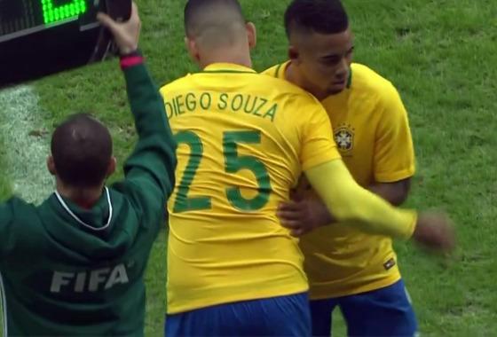 Amistoso da Seleção em 2017: Brasil x Japão. Imagem: Rede Globo/reprodução