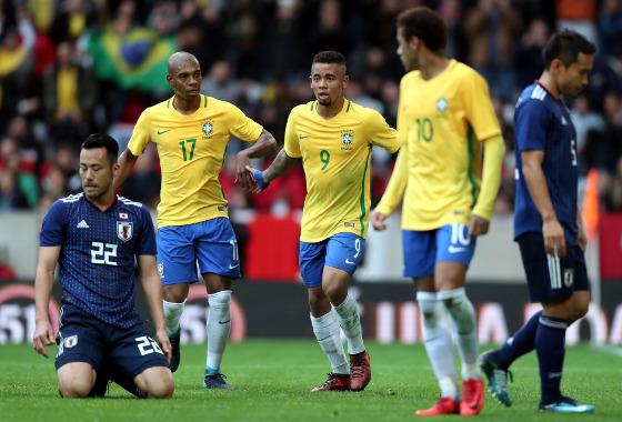 Amistoso da Seleção em 2017: Brasil x Japão. Foto: Lucas Figueiredo/CBF