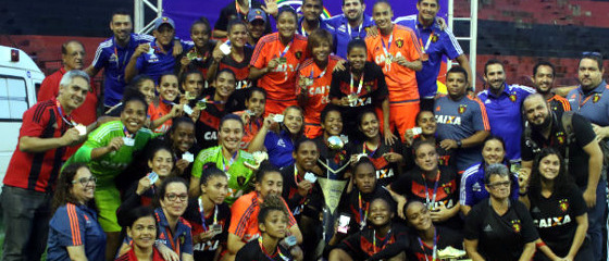 Sport campeão pernambucano feminino de 2017. Foto: Anderson Freire/Sport Club do Recife