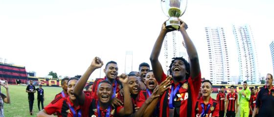 Sport campeão pernambucano infantil (Sub 15) de 2017. Foto: Williams Aguiar/Sport Club do Recife