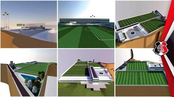 Projeto do Centro de Treinamento Ninho das Cobras. Imagem: Santa Cruz/divulgação