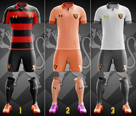 Mockups de uniformes da Under Armour no Sport. Crédito: Marcela Santiago/twitter (@timossim)