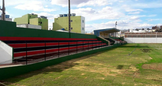 Estádio Áureo Bradley, Arcoverde (13/12/2017). Crédito: Flamengo/facebook (@Flamengodearcoverde)