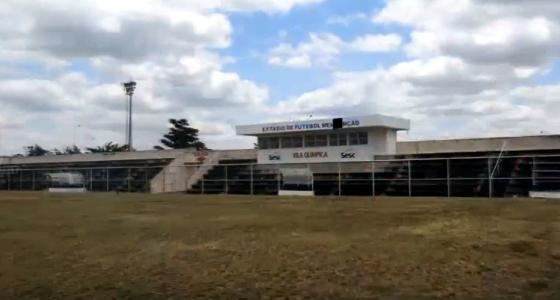 Estádio Sesc-Mendonção, em Belo Jardim. Crédito: AgresTV Pernambuco/youtube (reprodução)