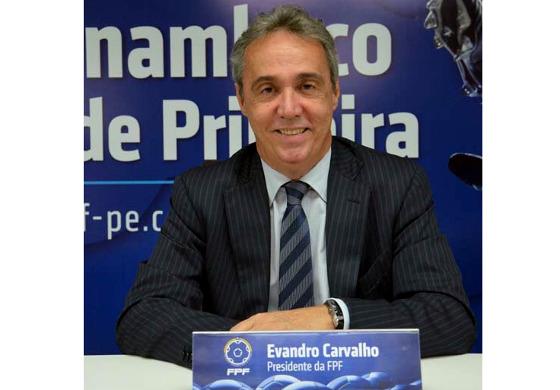 Evandro Carvalho, o presidente da FPF em 2018. Foto: FPF/site oficial
