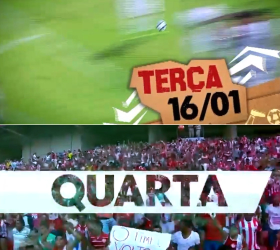 Os horários nobres da TV Jornal (terça) e Globo Nordeste (quarta) para o futebol regional em 2018. Crédito: reprodução