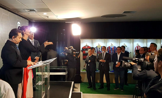 Lançamento do Campeonato Pernambucano de 2018, na sede da Globo Nordeste, na Rua da Aurora. Foto: Cassio Zirpoli/DP