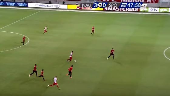 Pernambucano 2018, 3ª rodada: Náutico 3 x 0 Sport. Crédito: Rede Globo/reprodução