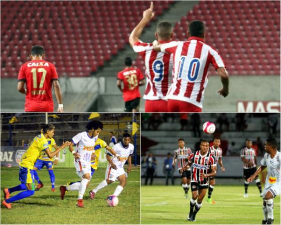 Jogos da 3ª rodada do Estadual 2018: Náutico 3 x 0 Sport (Roberto Ramos/DP), Pesqueira 1 x 2 Vitória (Acadêmica Vitória/site oficial) e Santa Cruz x Central (Ricardo Fernandes/DP)