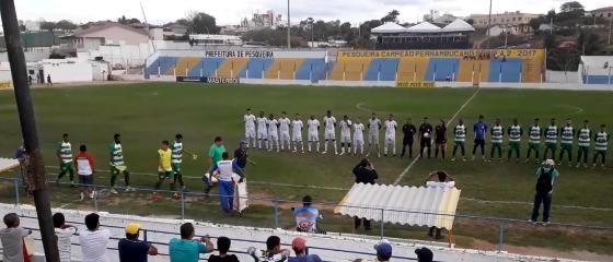 Pernambucano 2018, 4ª rodada: Belo Jardim 0 x 1 Salgueiro. Crédito: Belo Jardim News/youtube (reprodução)