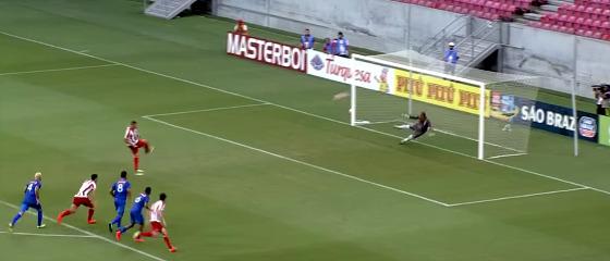 Pernambucano 2018, 4ª rodada: Vitória 1 x 1 Náutico. Crédito: Rede Globo/reprodução