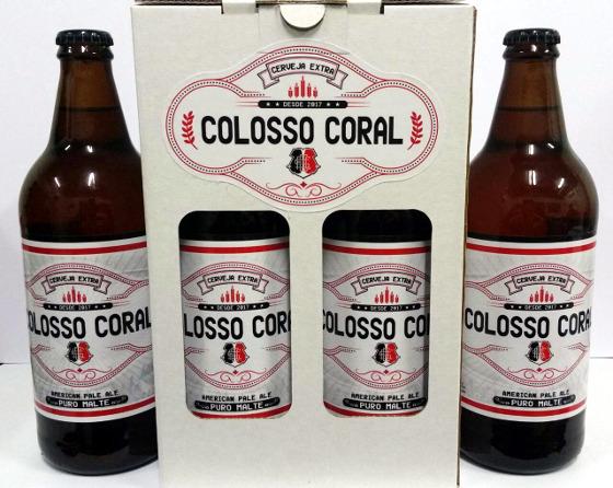 """Cerveja do Santa Cruz em 2018, a """"Colosso Coral"""". Foto: NaTora HmB/divulgação"""