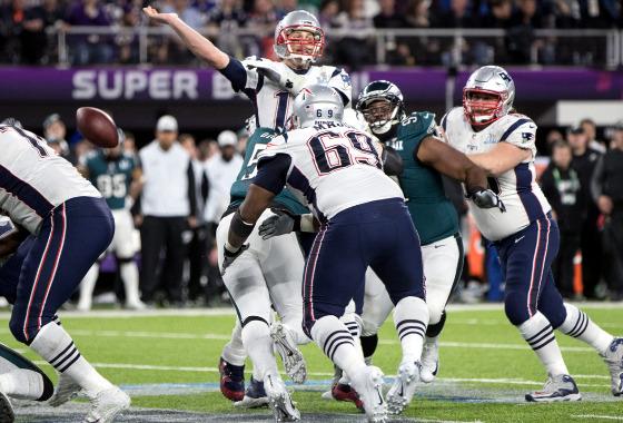 Super Bowl de 2018: Philadelphia Eagles 41 x 33 New England Patriots. Foto: Ben Liebenberg/NFL