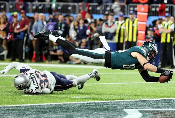 Super Bowl de 2018: Philadelphia Eagles 41 x 33 New England Patriots. Foto: Shawn Hubbard/NFL