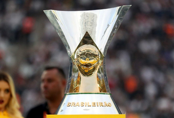 O troféu da Série A. Foto: Lucas Figueiredo/CBF