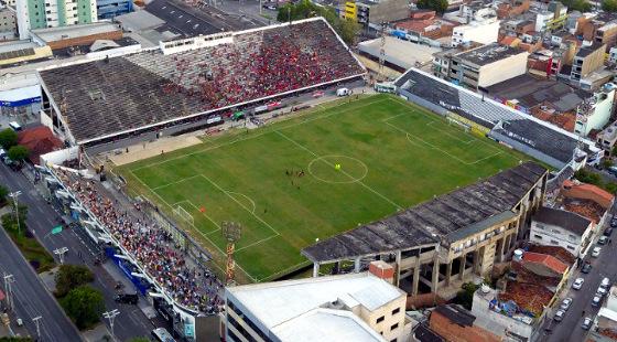 Pernambucano 2018, 5ª rodada: Central 1 x 1 Sport. Foto: Tetto Drone, via Caruaru no Face (cortesia)
