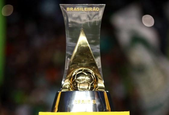 O troféu da Série B. Foto: Lucas Figueiredo/CBF