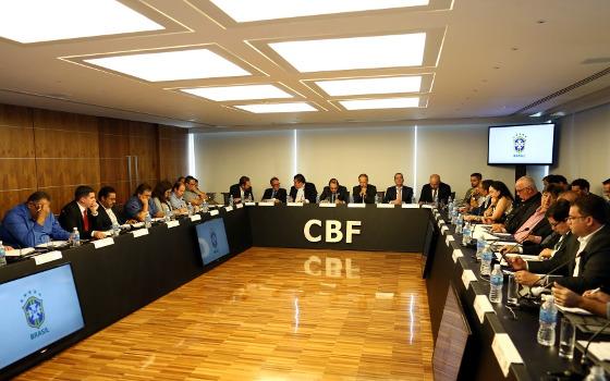 O conselho arbitral da Série C do Brasileirão de 2018. Foto: Lucas Figueiredo/CBF