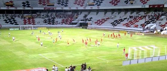 Pernambucano 2018, 7ª rodada: Santa Cruz 0 x 0 Náutico. Foto: Goleada Info/twitter (@goleada_info)