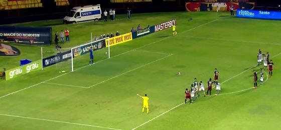 Pernambucano 2018, 7ª rodada: Sport 2 x 0 América. Crédito: Rede Globo/reprodução